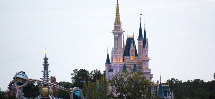 Wonderful view of Cinderella's Castle at the Magic Kingdom  from Bay Lake Tower.